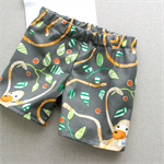baby shorts | jungle monkey | organic cotton | size 1