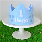 Blue Personalised Birthday Crown - you choose name and number
