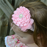 Special Occasion Headband - Pink - size 6 months to 3 yrs