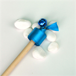 Twirling ribbon wand - blue primary colours