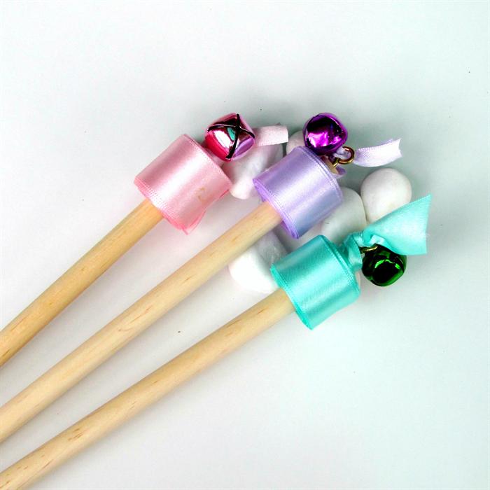 Twirling ribbon wand pastel lilac purple puddle for Ribbon wands