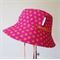 Spotty orange and pink reversible hat - Small