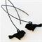 Black Bird Silhouette Earrings