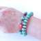Festival green amazonite, bright colour beaded bracelet by Sasha + Max Studio