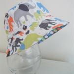 Boys hat in bright cheerful elephants