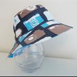 Boys summer hat in bright camera fabrics