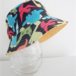 Boys summer hat in bright dinosaur fabric
