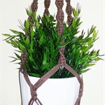 Light chocolate brown macrame hanger