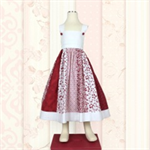 Red and White Dress, Sundress, Floral Dress