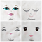 Embroidered Doll Face - Angel - Calico