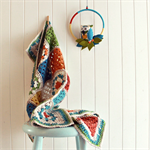 baby blanket | crochet | pram stroller size | granny square