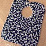 Handmade Designer Fabric Rectangle Terry Towelling Bib for Boys Skull Design