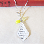 Anne of Green Gables Pendant Necklace Yellow Sunbursts Marble Halls