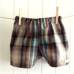 baby shorts | cotton check| boys size 6-12m