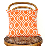 Orange and Natural Cushion Cover