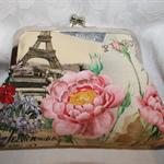 Paris Floral clutch bag