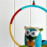 hooty owl | nursery mobile | hoop room decoration | gift