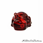 Harry Hippo - Red Mix - Paperweight / Ornament - Solid Button Filled Resin