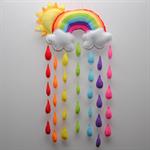 Sunshine and Rainbow Baby/Nursery mobile/wall hanging
