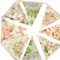 RETRO Vintage Spring Ivory Floral Flag Bunting. Shabby Chic Wedding Party Decor