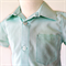 Boys Button Up Shirt - Size 4 - Blue and white micro check
