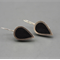 Black Sterling silver resin Earrings