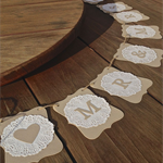 Mr and Mrs banner - doilies