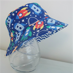 Boys summer hat in rocket fabric