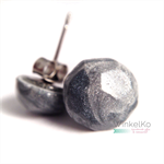 Silver Faceted Earrings / faceted studs