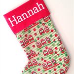 Handmade Christmas stocking.