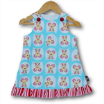 SIZE 0 Aqua Mice Baby Aline Dress