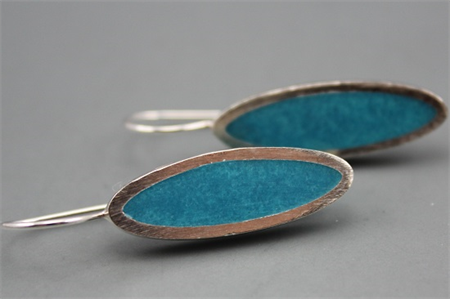 Aqua Blue Elegance Sterling silver Earrings
