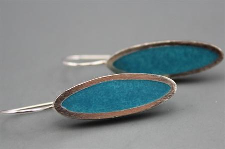 Aqua Blue Elegance Sterling silver Earrings