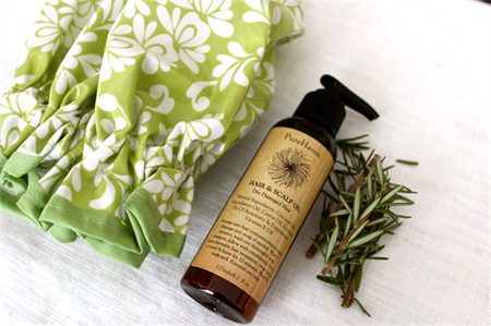 Hair & Scalp Treatment Oil - Rosemary and Peppermint Essential Oils. VEGAN