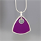 Royal Purple Sterling silver and Resin Pendant