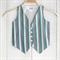 Teal Chevron Boys Waistcoat Vest