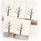 FREE POST 5 gift tags or mini cards birds and tree kraft doily