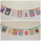 """7-letter-name"" bunting banner flag decorations (custom orders, one-of-a-kind)"