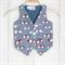 Size 2 - Geek Chic Glasses Boys Waistcoat Vest
