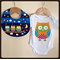 Owl Baby Onesie/Romper and Bib Set