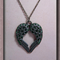 Green - Swarovski Crystal 'Angel Wings' Necklace