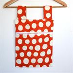 Laundry Fun Peg Bag - Spots on Pumkpin Orange