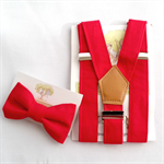 Red Braces and Bow Tie Set