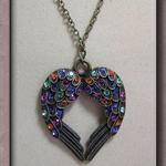 Rainbow - Swarovski Crystal 'Angel Wings' Necklace