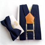 Navy Braces and Bow Tie Set. Page Boy, Christening, Cake Smash, Toddler, Boys