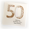 50th birthday card personalised kraft doily