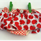 Size 12-18 months Skirted Bloomers Nappy Cover Red Apples with Red Spots