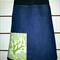 Denim Skirt with Bird, Tree & Bamboo Stretch Waist