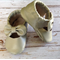 Silver maryjane leather moccasins