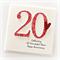 20th anniversary card wedding personalised